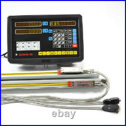 Digital Readout Display 2axis Dro Kit For MILL Leathe Machine With Linear Scale