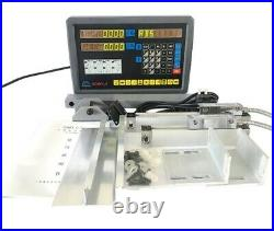 Digital Readout Dro 2 Axis For Milling Lathe Machine With Precision Linear Sc rs