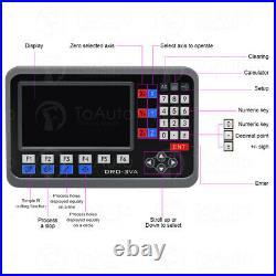 Digital Readout Kit DRO Display 5µm Linear Scale Sensor Mill Lathe 2/3/4/5Axis