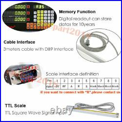 Digital Readout Linear Glass Scale DRO Display CNC Milling 5µm 2 YEAR Warranty