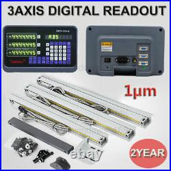 High Precision 1µm 3Axis Digital Readout DRO TTL Linear Scale Kit Milling Lathe