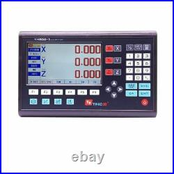 LCD Digital Readout DRO 3 Axis With 0-1000mm Glass Linear Scale Milling Lathe