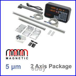 Lathe 2 Axis Digital Readout Package includes 350mm and 750mm Magnetic Encoders