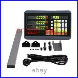 Linear Scale 250&450&950mm +Digital Readout 3Axis DRO Kit for Mill Lathe Machine