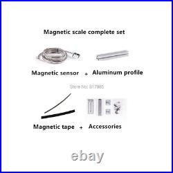 Magnetic sensor 5V 5um encoder magnetic tape 5+5mm 2 axis DRO digital readout wi