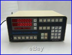Metronics QC2205-NL-H Quadra-Chek 2000 Digital Readout 2-Axis RS-232 90-260VAC