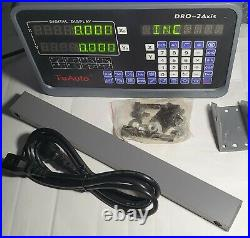 Mill 2Axis Digital Readout DRO Display Linear Glass Scale ToAuto 250-1000mm
