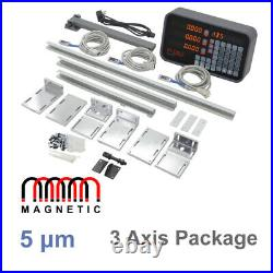Mill 3 Axis Digital Readout Package with 350mm, 450mm, 750mm Magnetic Encoders