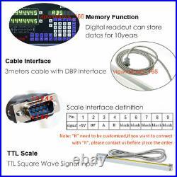 Mill Lathe Digital Readout 5µm Linear Scale TTL Glass Sensor Measuring Tool EDM