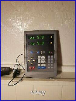 Newall C80 DRO Digital Readout Unit Mill Lathe 2 axis