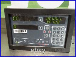 Newall Digital Readout DRO Mill Package 2-Axis 12 x 36 DP700 Display