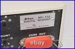 Nikon MC-102 Digital Readout, 2-Axis, 220/240V, 0.5A