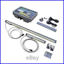 Real 2 Axis Digital Readout Meter for Milling Lathe Machine Linear Scale DRO CNC