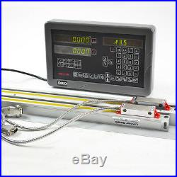 SINPO 2 Axis DRO Digital Readout Display Console & 2 Linear Scales Milling/Lathe