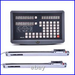 SNS-2V 2 Axis DRO Digital Readout 110V/220V And 2 Pieces Linear Glass Scale Opti