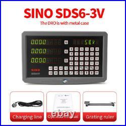 Sino SDS6 2/3Achsen Digitalanzeige DRO Lineare Skala Scale Hohe Präzision CNC
