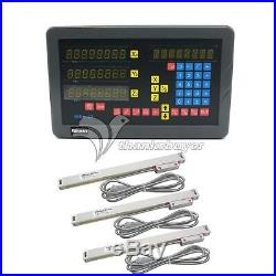 Sinpo 3-axis 5um Digital Readout DRO Kit with 3x Scales for Mill Milling Machine