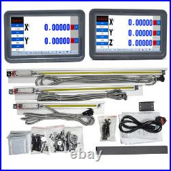 Touch Screen Mill Dro Digital Readout LCD Display+Linear Glass Scale Kit 2/3Axis