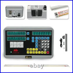 Updated 2 Axis Digital Readout DRO Milling Lathe Machine Linear Scales Encoder