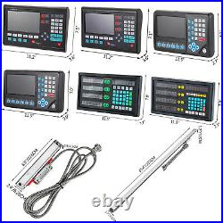 VEVOR Digital Readout 2/3/4/5 Axis LCD/LED 120-2000MM Precision Linear Scale