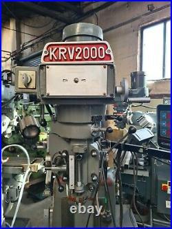 Xyz Krv 2000 Turret Mill / Bridgeport 3 Axis Digital Read Out £3000+VAT